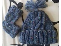 brand new hand knitted baby hat sets