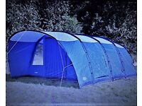 Vango Anteus 600 Family Tent plus front Awning and Footprint