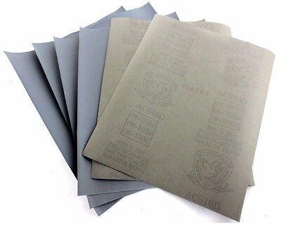 Wet & Dry SANDPAPER 80 to 7000 GRIT, ABRASIVE Sanding Paper Coarse Medium Fine