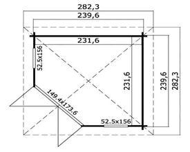 Ex-Display Oban - 40mm Corner Log Cabin