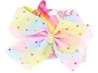 RARE JoJo Siwa Large Rainbow Rhinestone Signature Hair Bow. Out of stock in Claire's