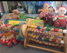 Large bundle In The Night Garden my first ready bed and toys SOLD