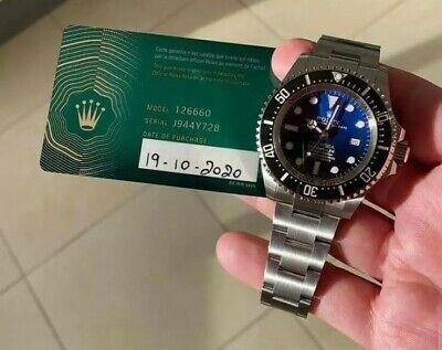 Rolex Deepsea Blue , 126660, Oct 2020, Brand New, Unworn