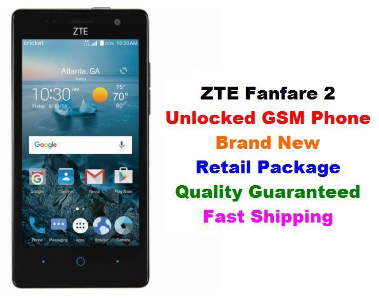 newest zte fanfare 2 cricket phone