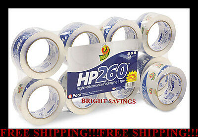 8 Rolls Duck Packing Sealing Shipping Packaging Tape 1.88 X 60 Yards