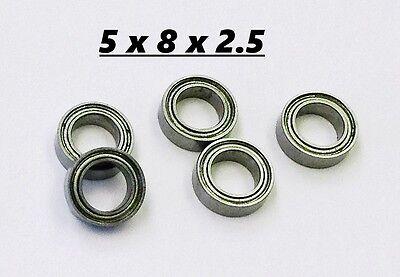 5x Small Miniature Bearing 5x8x2.5 Micro Bearing Free Usa Ship