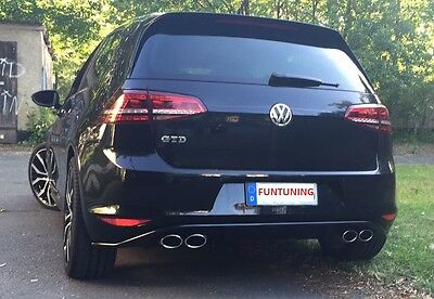 vw golf 7 gtd sport exhaust diffuser exhaust gti muffler. Black Bedroom Furniture Sets. Home Design Ideas
