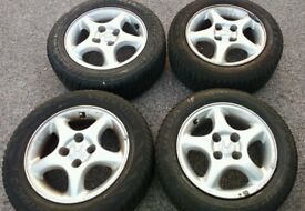 Set of 14'' Honda Alloys with excellent tyres