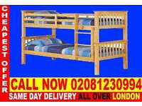 ****Amazing Offer**** WOODEN Bunk Base, That convert into two- /Bedding biogen
