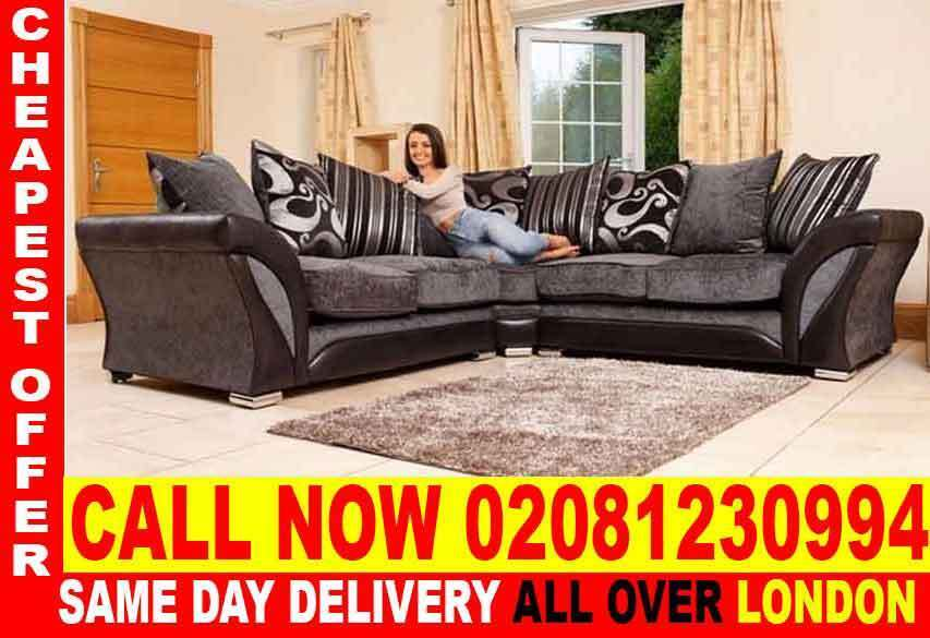 Quickest DeliveryJUMBO OFFER OFFER SHANNON CORNER SOFA IN GREY AND BLACK AND BROWNin Surrey Quays, LondonGumtree - Brand New SUPERB Quality Chenille Fabric Chrome Legs Foam Seats DimensionsCorner Depth 75cm Height 75cm Width 230cm X 230cm 3 Seater Width 205cm 2 Seater Width 180cm SHARON Corner or 3 2 Seater SofA