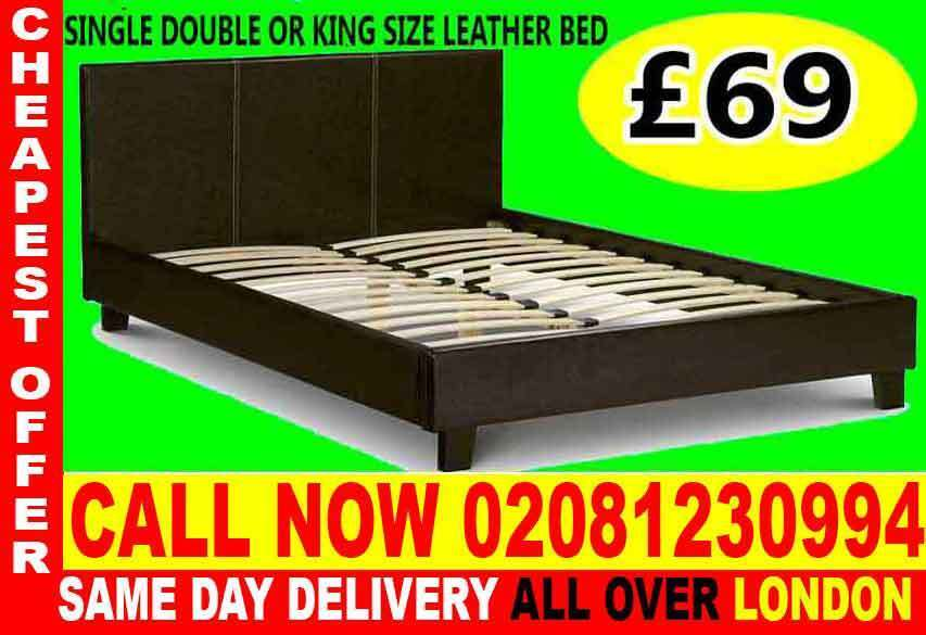 WOW UPTO 70% OFFSINGLE DOUBLE KING SIZE LEATHER BEDDINGin Hayes, LondonGumtree - Brand New Furniture sale All types of furniture available. Bed, sofa, wardrobe, bunk bed, dining set, coffee tables.Just a call and we will assist you