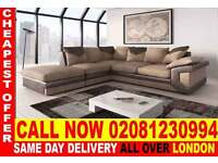 ****WOW UPTO 70% OFF*** ITALIAN FABRIC JUMBO CORNER SOFA...CALL NOW!