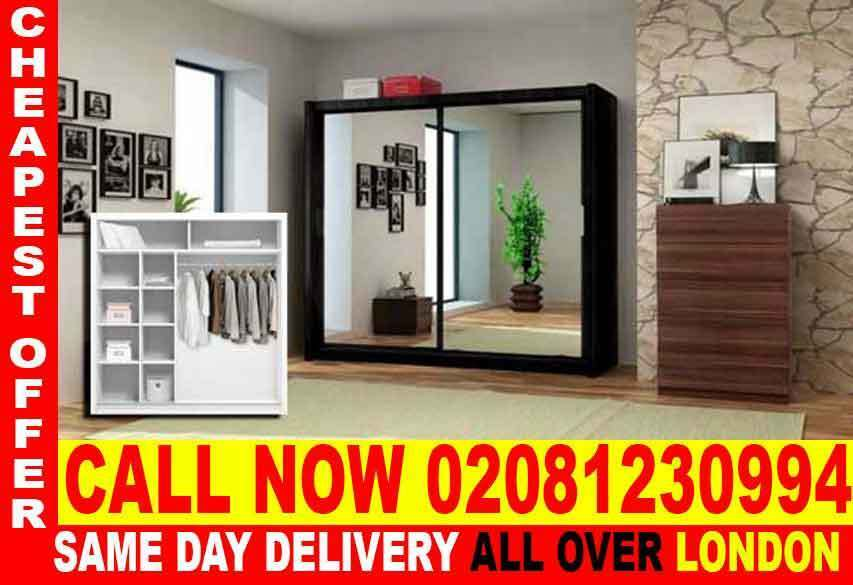 SUPPER QUALITYWHITE SLIDING 2 DOORS BERLIN FULL MIRROR CHEAP PRICE WARDROBEin Greenford, LondonGumtree - The Berlin Sliding Wardrobe range is not only stunning to look at but functional as well. Its contemporary design will grace any bedroom and as it comes in such a wide variety of sizes and colors, there is a style to suit everyone. The Berlin range...