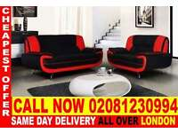 ****WOW UPTO 70% OFF*** CAROL 3 + 2 SEATER FAUX LEATHER SOFA...CALL NOW!