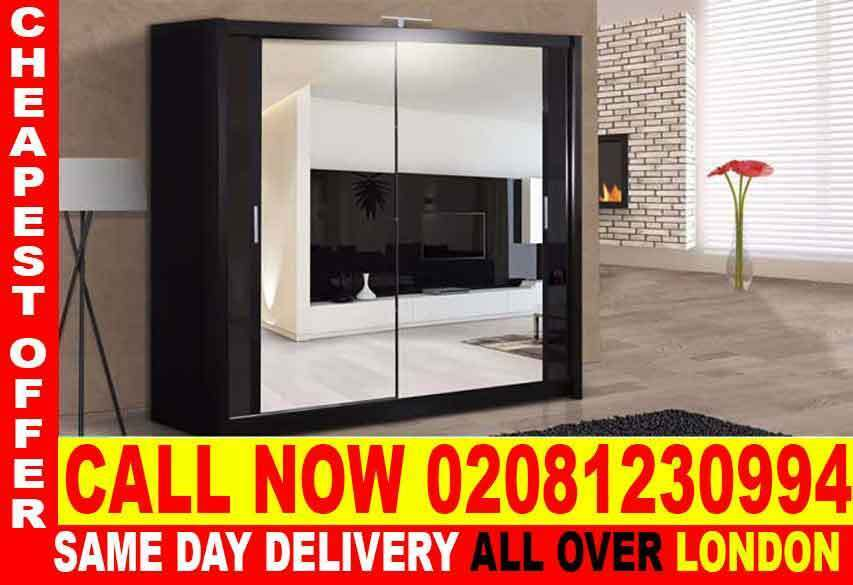 Amazing OfferSLIDING 2 DOORS CHICAGO FULL MIRROR CHEAP PRICE WARDROBEin Richmond, LondonGumtree - The Berlin Sliding Wardrobe range is not only stunning to look at but functional as well. Its contemporary design will grace any bedroom and as it comes in such a wide variety of sizes and colors, there is a style to suit everyone. The Berlin range...