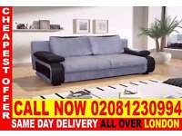 ****WOW UPTO 70% OFF*** BRAND NEW LEATHER & FABRIC SOFA BED with STORAGE physiocrat