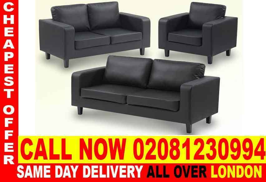 Amazing OfferSofa Available in Corner Sofa or 3 2 1 Seater Fabric Sofasin Haringey, LondonGumtree - The Box Sofa suite comes with a black pu leather 3 seater, 2 seater and arm chair sofa, The Box black PU leather sofa suite is perfect for a small home or office space, made comfortable with deep cushioning and supports and made durable with quality...