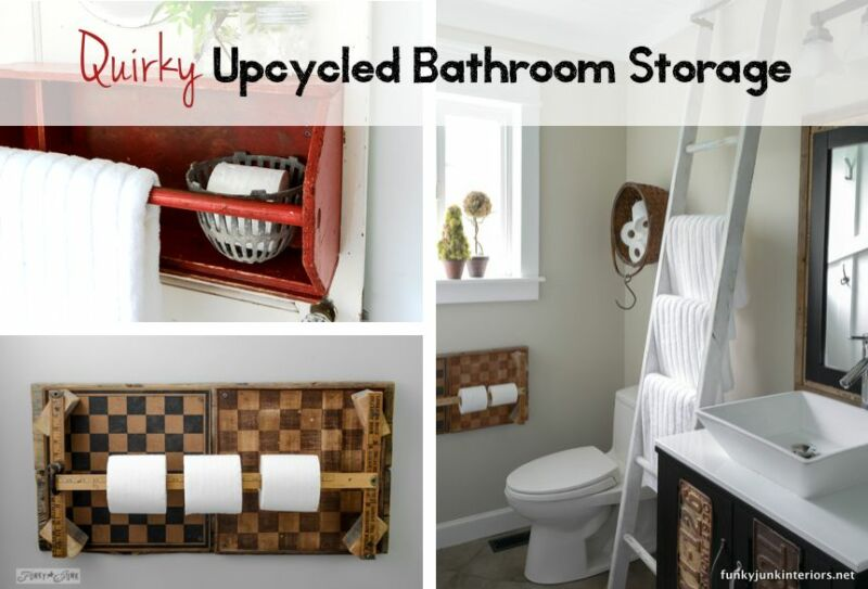 Quirky upcycled storage ideas for your bathroom ebay for Quirky bathroom ideas