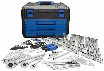 Kobalt 227-Be disturbed Standard (SAE) and Metric Mechanics Tool Set w/ Hard Case New