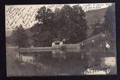 94547 AK Fotokarte Stausee Staumauer Wehr 4 Männer 1913 Bauwerk