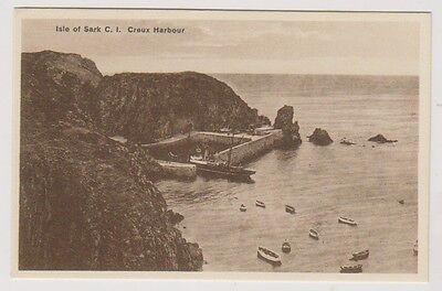 Sark postcard - Creux Harbour