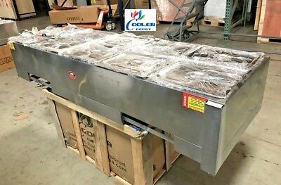 New Warmer Steam Table Server 5 Compartment 10 Pan Gas Or Propane 68 X 24 X 13