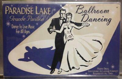 Ballroom Dancing Metal Poster Sign Prom Dance Studio Wall Art retro advertising](Prom Signs)