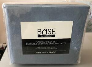 Flannel Sheet Set – Twin – Blue