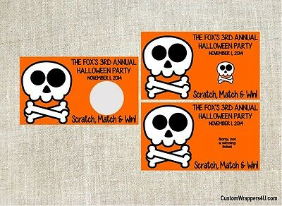 Halloween Scratch Off Tickets (Halloween Skull Party Scratch Off Tickets Game Cards Favors)