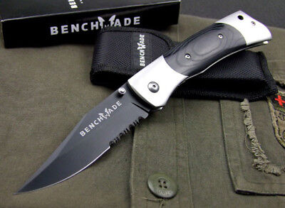 """BEBCHMADE 9.3"""" Butterfly 8Cr17Mov Steel Tactical Folding Pocket Knife Half Tooth"""
