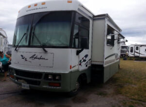 1998 gas powered Winnebago adventurer 33' class a Rv- AS IS