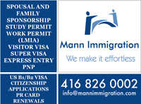Spousal OPEN work Permit in $850- Call us 4168260002