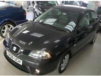 2006 SEAT IBIZA STYLANCE 16V Black Manual Petrol