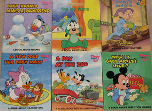 2 Lots of 6 Disney Baby - A Book About.....Series