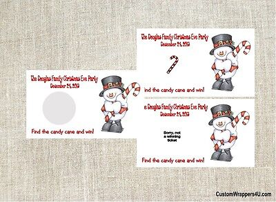 Christmas Holiday Snowman Party Scratch Off Tickets Game Cards Favors Custom - Party Tickets