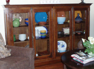 Solid Oak Dining Room Hutch