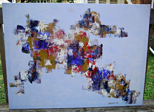 Large Abstract Painting, signed and dated