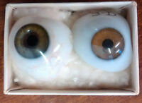 Vintage artificial glass eyes