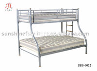 Twin over Double Bunk Bed Metal
