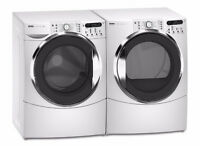 $250 White Kenmore Elite Washer and Dryer Front Load Pair