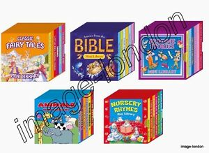 Mini-Library-Set-of-Classic-Collection-Board-Books-Animals-Nursery-Rhymes