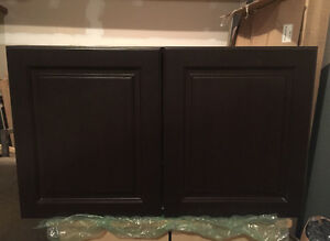 Brand New Thomsville Dark Brown over the Fridge Cabinet