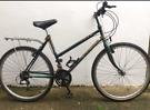 "Raleigh Amazon unisex bike. 19"" frame. 26"" wheels. Good condition"