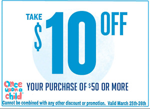 $10 off! Once Upon A Child Sherwood Park