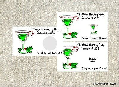 Christmas Holiday Cocktail Party Scratch Off Tickets Game Cards Favors Custom - Party Tickets