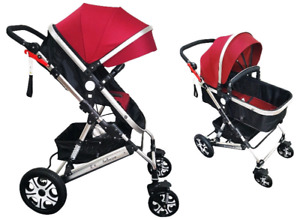 Brand New Belecoo Stroller/Bassinet with Suspension System
