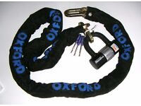OXFORD Bronze Series motorcycle chain and disclock