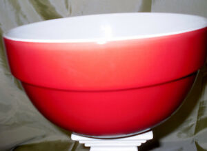 new AVON large RED mixing bowl