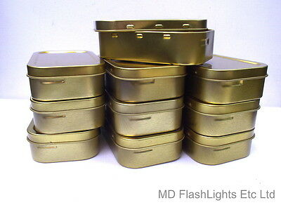 10 X 1oz TOBACCO TIN/SURVIVAL KIT TIN WITH RUBBER SEAL UK SELLER SAMEDAY POST