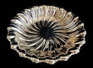 "Vintage Oneida 12"" Swirl Silverplated Bowl or Dish - copyright 1"